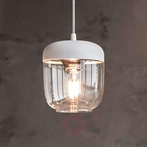 Acorn White Pendant Light