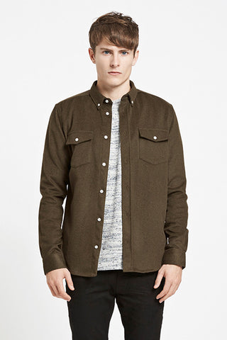 Alessandro LS Shirt Olive