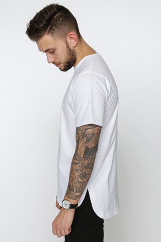 Rounded T-Shirt, Blanc