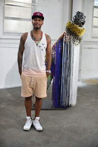 Swizz Beatz in Speckle Vest by Reality Dreams