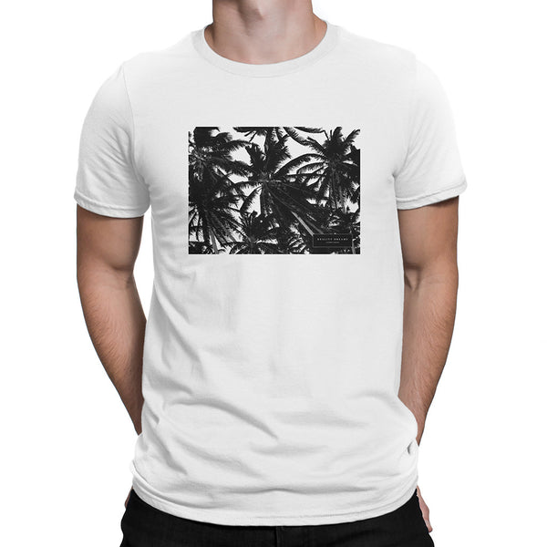 Palm Trees White Tee