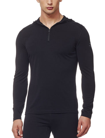 Icebreaker Mens Oasis Half-Zip Hooded Baselayer - Icebreaker