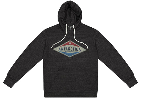 Antarctica Retro Long Sleeved Hooded T-Shirt