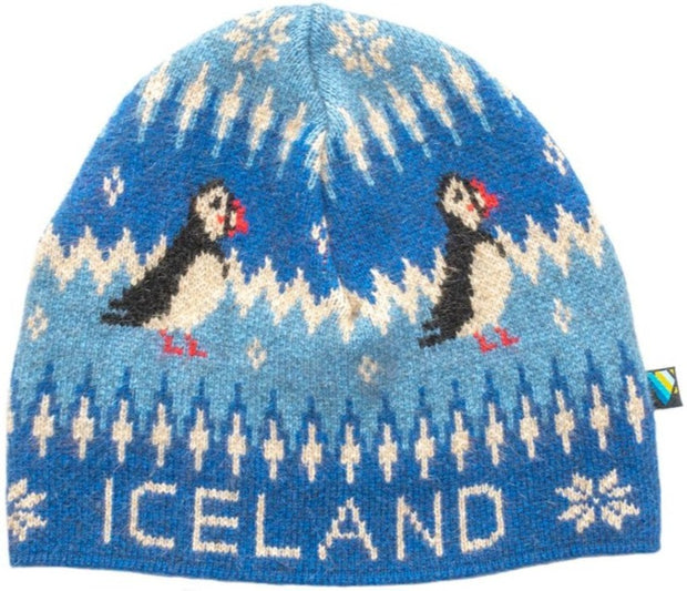 Arctic Edge Puffin Beanie in Blue - Arctic Edge