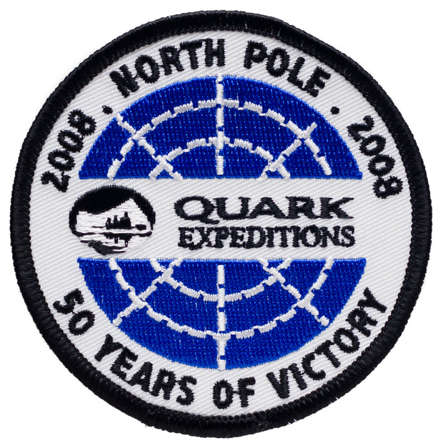 North Pole 50 Years of Victory 2008 Souvenir Patch - Quark Expeditions, Inc.