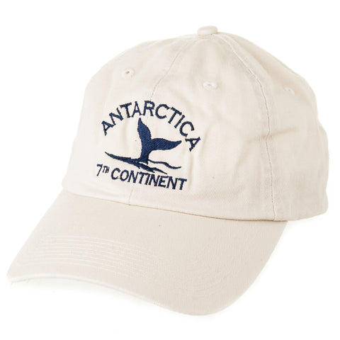 Antarctic Whale Tail 7th Continent Cap in Ivory - Quark Expeditions, Inc.