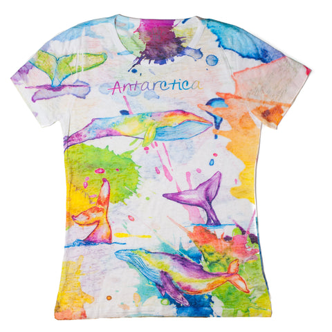 Ladies Antarctica Humpback Tie-Dye T-Shirt - Quark Expeditions, Inc.