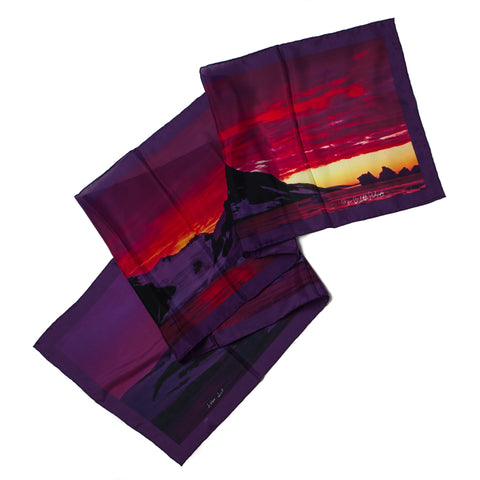 Antarctic Landscape Printed Silk Scarves - Quark Expeditions, Inc.
