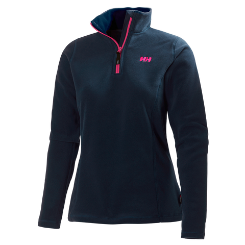 Helly Hansen Ladies Daybreaker 1/2 Zip Fleece - Evening Blue - Quark Expeditions - 1
