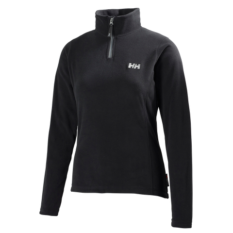Helly Hansen Ladies Daybreaker 1/2 Zip Fleece - Black - Quark Expeditions - 1