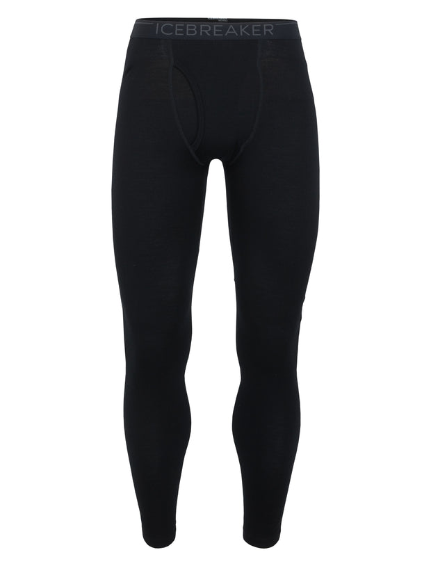 Icebreaker Men's Oasis Leggings with Fly in Black - Icebreaker