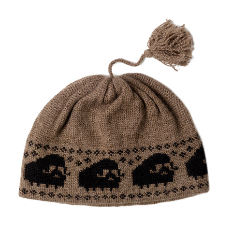 Musk Ox Qiviut Toque with Musk Ox Pattern - Arctic Canada