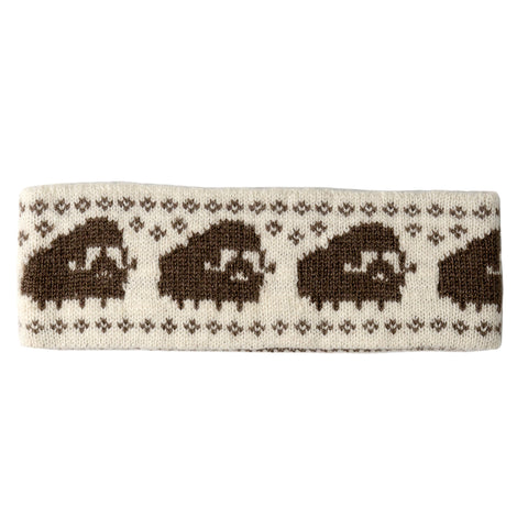 Musk Ox Qiviut Headband with Musk Ox Pattern - Arctic Canada