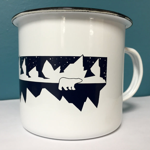 Arctic Expedition Enamel Mug - Right Sleeve