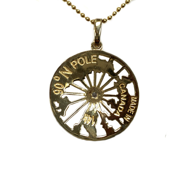 14K Gold and Diamond North Pole Necklace - Quark Expeditions, Inc.