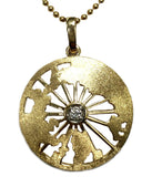 14K Gold and Diamond North Pole Necklace - Quark Expeditions