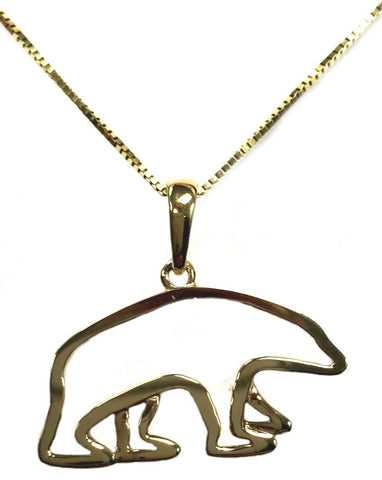 14K Gold Polar Bear Necklace - Quark Expeditions, Inc.