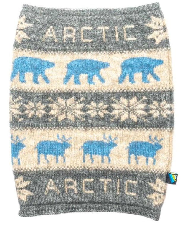 Arctic Edge Wildlife Neck Warmer in Grey - Arctic Edge