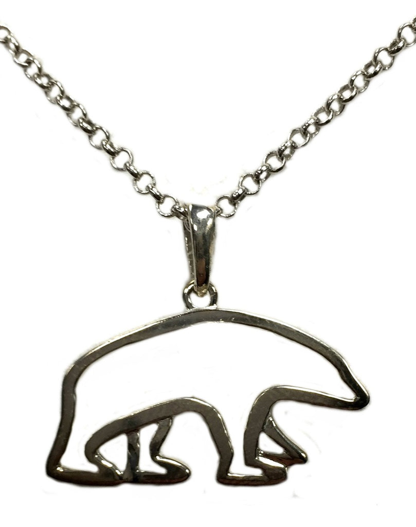 Sterling Silver Polar Bear Necklace - Quark Expeditions, Inc.