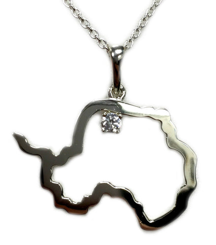Serling Silver Antarctic Necklace with Swarovski Crystal - Quark Expeditions, Inc.