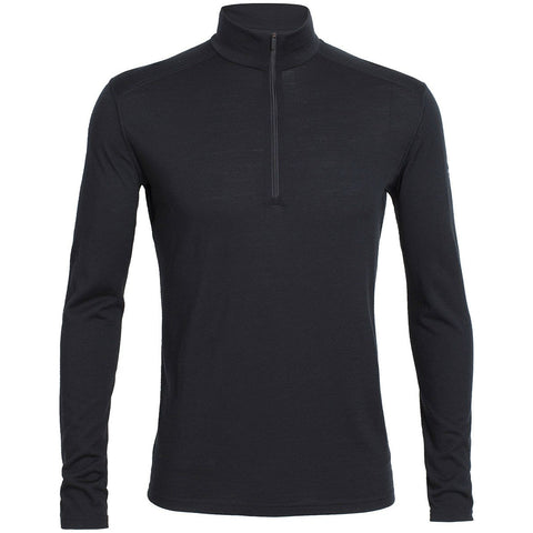 Men's Oasis Half-Zip Baselayer in Black - Icebreaker