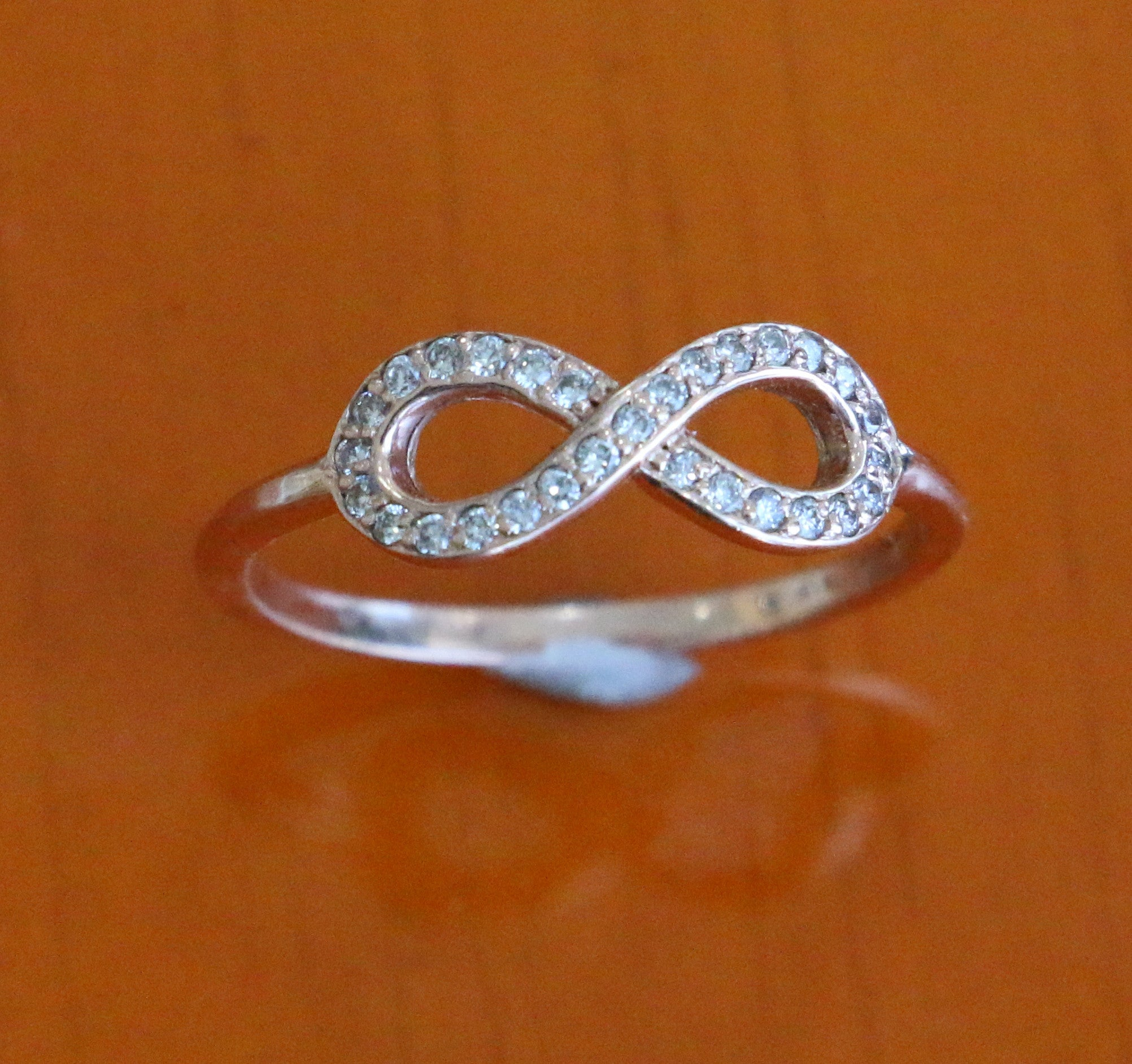 criss bands infinity pink ring gold unique wedding band cross rose pin