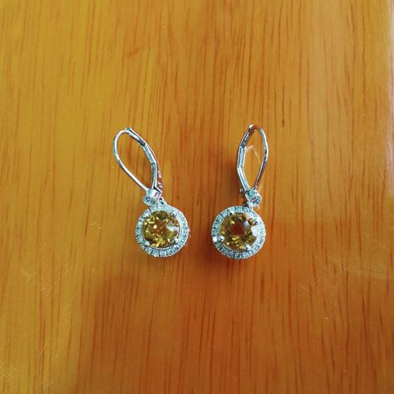 diamond white jewelry gold products mavrik citrine earrings