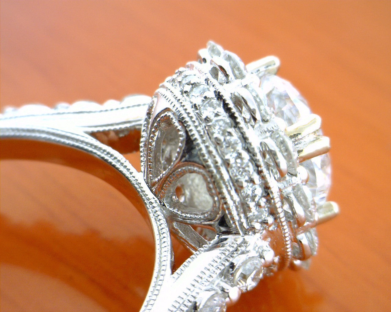 ring halo cfm engagement double diamond cathedral engagementdetails vintage rings