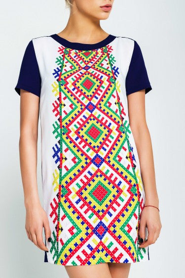 Womens Dress With Embroidery Design On Front Youth Ukie Style