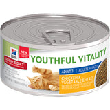 Caja de Latas para Gato Adulto 7+ Youthful Vitality Pollo y Vegetales