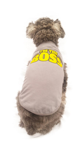 "Playera Estampada I'm the Boss ""Pet Pals Boutique"""