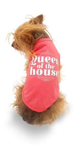 "Playera Estampada Queen of the house ""Pet Pals Boutique"""