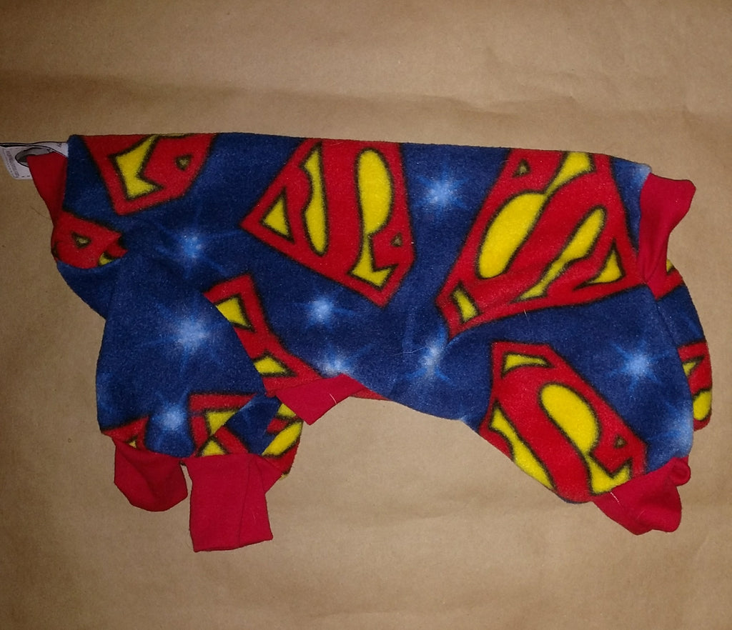 IG Superman Small Italian Greyhound pajamas