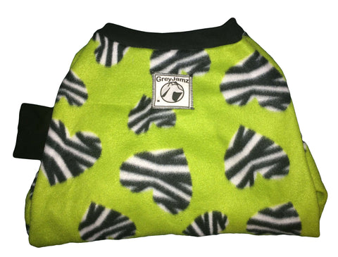 Lime Zebra Medium Greyhound Pajamas