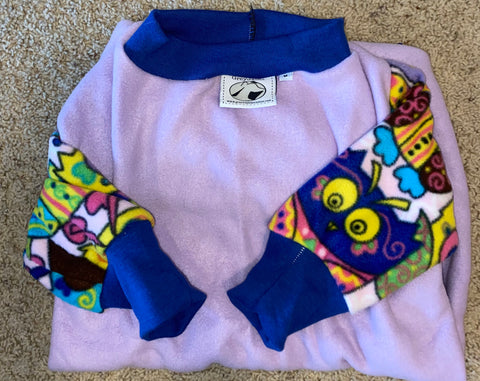 Lavender hoot colorblock medium pajamas