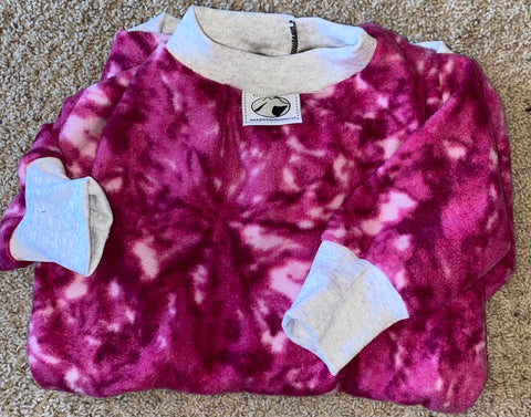 Medium bright pink tie dye
