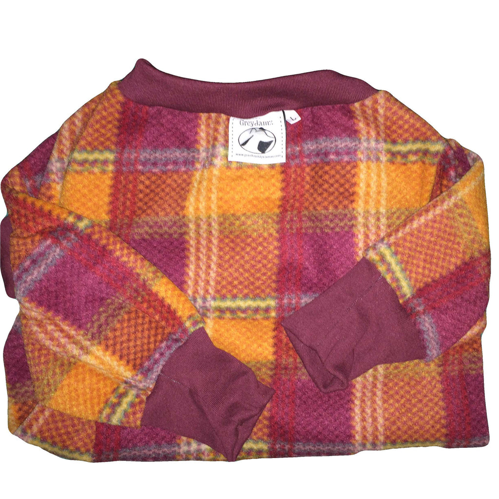 Maroon Orange Plaid Medium