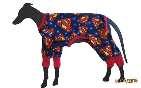 Large greyhound pajamas: Superman
