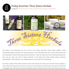 three sisters herbals review at whatever mom blog
