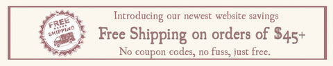free shipping on all orders over $45