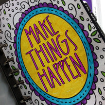 planner, to get organized and make things happen
