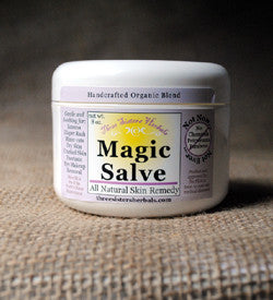three sisters herbals organic skin care handcrafted wicked magic salve tea tree oil skin care rashes rash treatment organic magic salve horses hooves hooved animals hoof farm animals dry skin dogs dog cream cracked heels chickens cats antifungal animals animal care kit all natural dog gifts all natural abscesses. The best all-natural herbal salve.