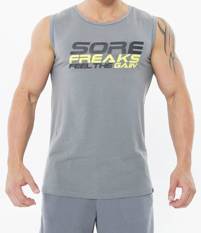 Grey men classic feel the gain sleeveless