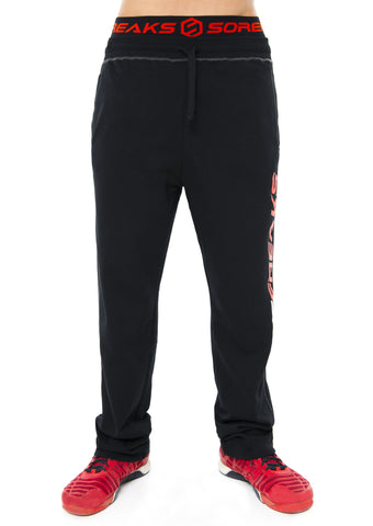 BLACK MEN SOREFREAKS SWEAT PANTS