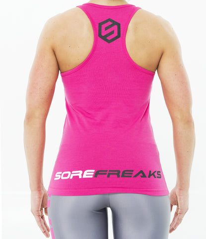 PINK WOMEN SIDE LOGO TANK TOP