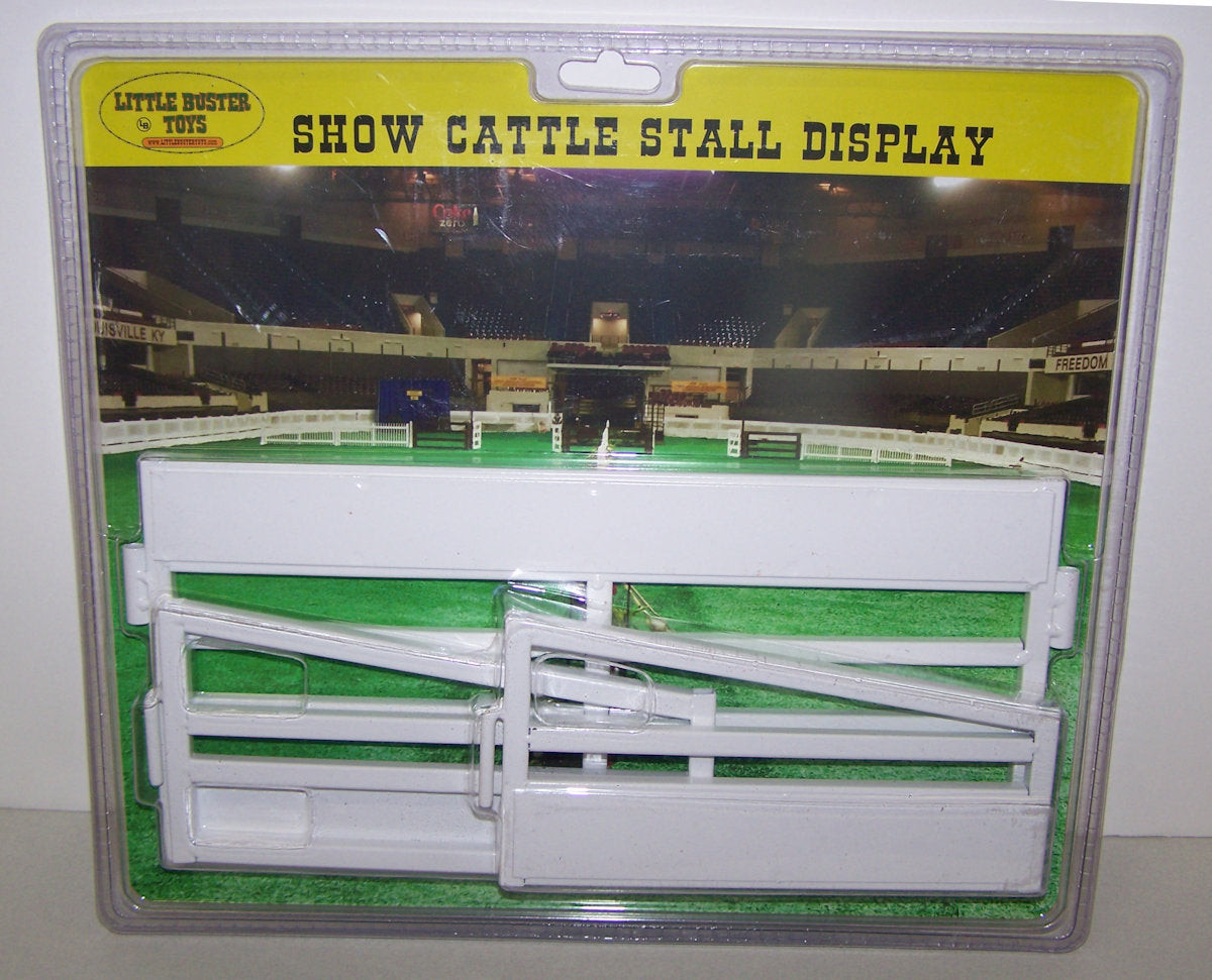 #00802 1/16 Show Cattle Stall Display - White