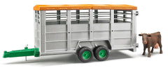 #02227 1/16 Livestock Trailer with Cow