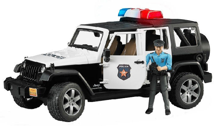 #02526 1/16 Jeep Rubicon Police Car with Policeman