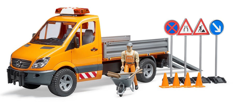 #02537 1/16 Municipal MB Sprinter with Worker & Accessories