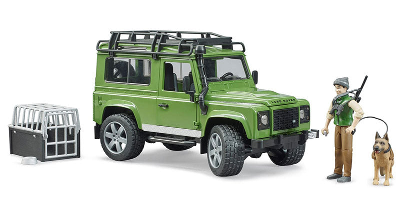 #02587 1/16 Land Rover Defender Wagon with Forester & Dog